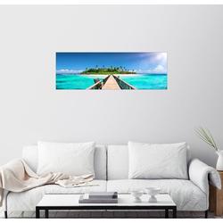 Posterlounge Wandbild, Leinwandbild Steg ins Paradies 90 cm x 30 cm