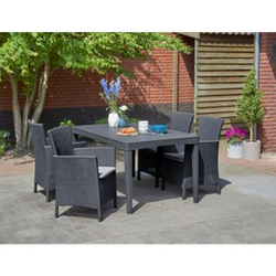 Allibert Iowa Girona Diningset 5-tlg, anthrazit