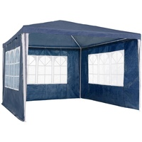 Tectake Pavillon 3 x 3 m inkl. Seitenteile blau