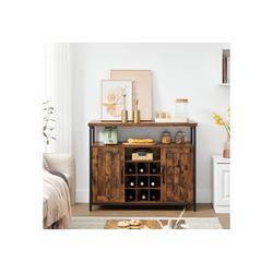 VASAGLE Beistellschrank LSC094B01 Küchenschrank, Weinschrank, mit 2 Türen, für Wohnzimmer, Küche, vintage