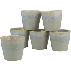 CreaTable Espressotasse Grespresso Espresso, (Set, 6 tlg.), 9 cl, 6-teilig grau Becher Tassen Geschirr, Porzellan Tischaccessoires Haushaltswaren