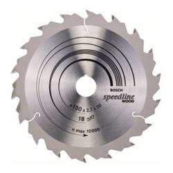 Bosch Kreissägeblatt Speedline Wood 150 x 20 x 2,0 mm 18