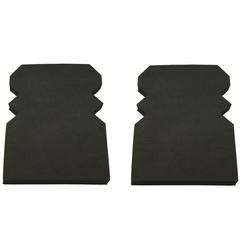 Nierhaus Arbeitshosen Kniepolster Nr. 47 225x160 x18 mm schwarz