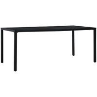 vidaXL Gartentisch 180 x 83 x 72 cm schwarz