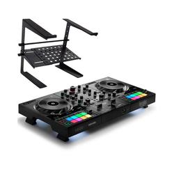 HERCULES Mischpult Hercules Inpulse 500 DJ Controller+Laptopständer