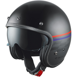 Held Mason Jet helm ontwerp vlag, zwart, L