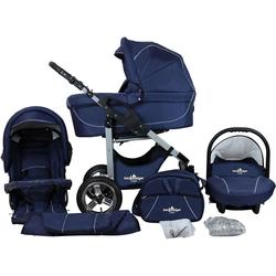 bergsteiger Kombi-Kinderwagen Capri, marine blue, 3in1, (10-tlg), Made in Europe; Kinderwagen