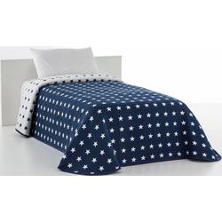 Tagesdecke Yolanda, Vialman Home, mit hochwertigem Sternen-Muster blau 280 cm x 240 cm