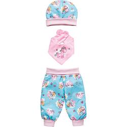 Puppenbaby-Outfit Einhorn Emil & Fee Emma, 3-teilig, Gr. 35-45 cm