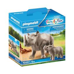 Playmobil® Spielfigur PLAYMOBIL® 70357 Nashorn mit Baby