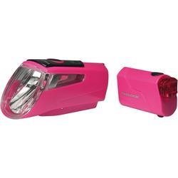 Trelock Fahrradbeleuchtung LS 460 I-GO POWER rosa