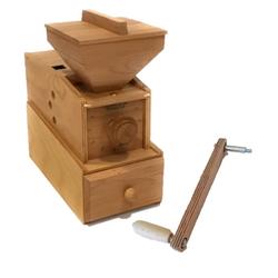 WIDU Getreidemühle Widukind Model I Elektro + Handkurbel Buchenholz