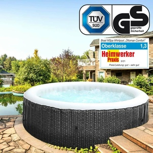Whirlpool MSpa OTTOMAN 6 Personen aufblasbar Pool Wellness Massage Spa Ø204x70cm