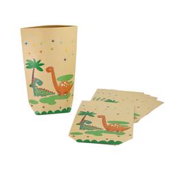 6 Dino Geschenktüten Dinosaurier Papiertüten Kinder Geburtstag Mitgebsel