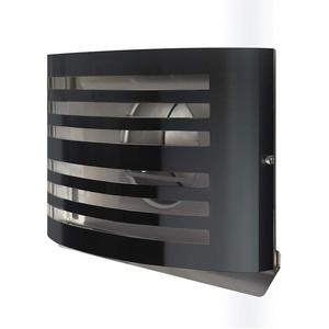 Premium Abluftgitter Lüftungsgitter Küchenabluftgitter Dunstabzugsgitter Anschlussstutzen Edelstahl Überdruckgitter mit isolierter Rückstauklappe (150mm, Schwarz RAL7021)
