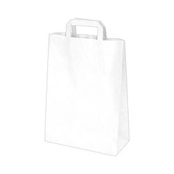 GASTRO Papiertragetaschen 32 x 26 x 14 cm mit EAN-Code weiß, 250 Stk.
