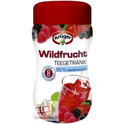 Krüger Teegetränk Wildfrucht 50 Prozent kalorienreduziert 400g