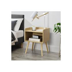 en.casa Nachttisch, Stylischer Beistelltisch Darfield mit Schublade - 46 x 38 x 60cm - Eiche Dekor