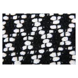 Teppich, Pro Home, eckig, Teppich aus 100% Baumwolle, Baumwollteppich Black & White 70 cm x 130 cm