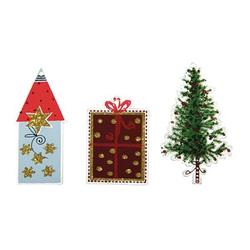 Rayher Holzanhänger Christmas Village 6 St.