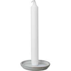 Ernst Kirchsteiger Glasierter Kerzenhalter mit Stachel Weiß