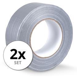 Stagecaptain DT-4850G-ECO Gewebeband Klebeband Gaffa Tape 50m 2er Pack Grau