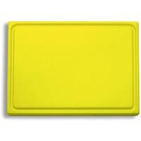 F DICK F. DICK Schneidbrett, Saftrille (Kunststoffschneidbrett, gelb, 265x325x18 mm, beidseitig verwendbar, HACCP) 91265000-02