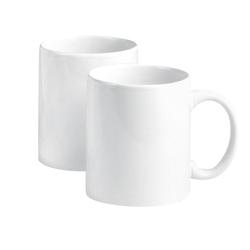 VBS Tasse, Porzellan, Porzellan, 2 Stück weiß