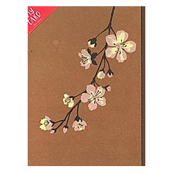 Diy Card  Kirschblüte  Senfgelb