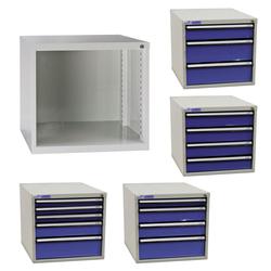 ADB Schubladenbox Schubladenschrank Schubladencontainer mit 3-5 Schubladen 400mm, Anzahl Schubladen: 3 Schubladen