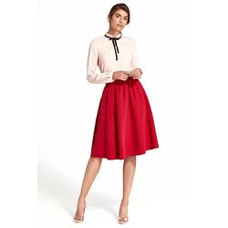 nife Sommerrock mit elegantem Faltenwurf rot 40