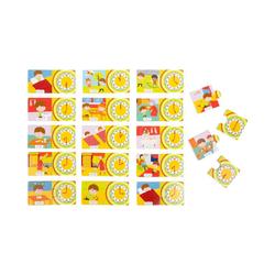 Small Foot Puzzle Lernpuzzle Uhrzeit, 34 Puzzleteile bunt