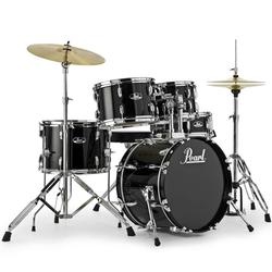Pearl Drums Schlagzeug Pearl Roadshow RS585C-31 Jet Black Schlagzeug