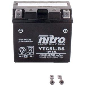 Batterie 12V 5AH YTX5L-BS (YTC5L-BS) Gel Nitro 50412 RS 450 LAEAGZ4-4 Takt 05-13