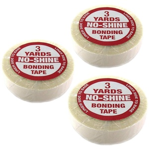 """No Shine Bonding Double Sided Tape Walker 3/4"""" x 3 Yards (1,9cm x 2,75m) by Walker Tape Tapeband Klebeband Tape Extensions Haarteile Toupets"""