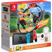 Nintendo Switch neon-rot/neon-blau + Ring Fit Adventure (Bundle)