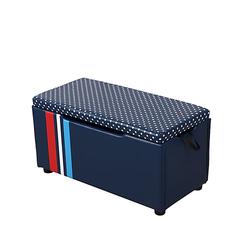 Kindersitzbank mit Stauraum blau
