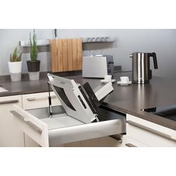 UNA 98 Allesschneider Schubladen System mit Wellenschliffmesser aus Edelstahl