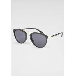 BASEFIELD Sonnenbrille feiner Doppelsteg in Goldoptik schwarz