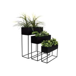 Wohaga Blumenständer 3tlg Blumenständer-Set Metall H70/60/50cm