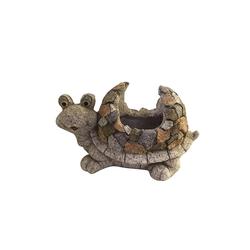 HTI-Line Dekofigur Pflanzgefäß Stone Schildkröte (1 Stück), Pflanzgefäß