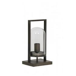 Casa Padrino Tischleuchte Antik Schwarz 17 x 14 x H 32,5 cm - Leuchte - Tischleuchte