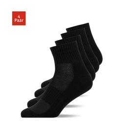 SNOCKS Laufsocken Winter Running Socks Herren & Damen (4-Paar) schwarz 35 - 38