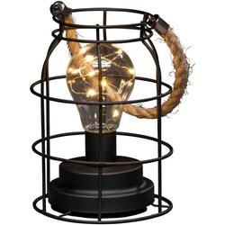 Konstsmide 1815-700 LED-Laterne Schwarz Timer, mit Schalter