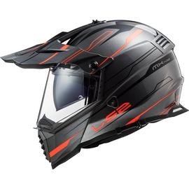 LS2 MX436 Pioneer Evo Knight grey/orange