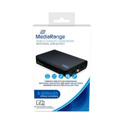 MediaRange Powerbank MR752: 8.800 mAh mit Taschenlampe