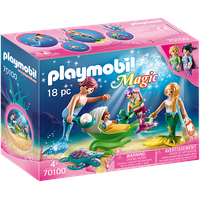 Playmobil Magic Familie mit Muschelkinderwagen 70100
