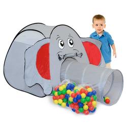 LittleTom Spielzelt Spielset Kinderspielzelt Jumbo + 200 Bälle Spielzelt Spielhaus Bällebad