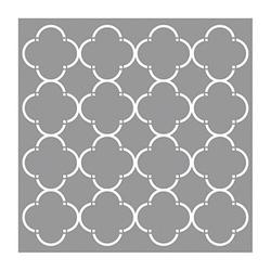 Rayher Dekor-Schablone Waben modisch grau
