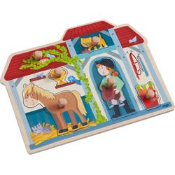 Haba Steckpuzzle Greifpuzzle Im Pferdestall, Puzzleteile